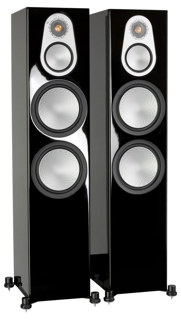 Monitor Audio Silver 500 Iso Black Gloss Pair scaled