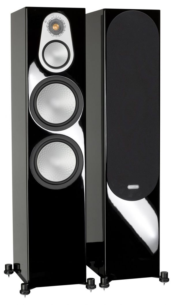 Monitor Audio Silver 500 Iso Black Gloss Pair 1Gr scaled