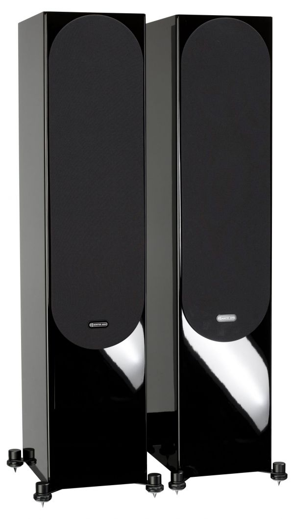 Monitor Audio Silver 500 Iso Black Gloss Pair 2Gr scaled